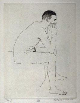 Seated, pl. 1 from the bound portfolio, The Nude Man (Berkeley: Crown Point Press, 1965)