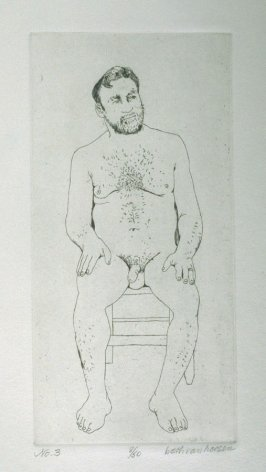 W. Seated, pl. 3 from the bound portfolio, The Nude Man (Berkeley: Crown Point Press, 1965)