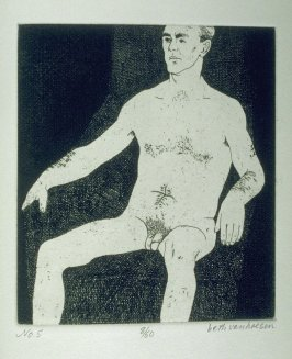 E. seated, pl. 5 from the bound portfolio, The Nude Man (Berkeley: Crown Point Press, 1965)
