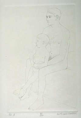 Father and Son, pl. 8 from the bound portfolio, The Nude Man (Berkeley: Crown Point Press, 1965)