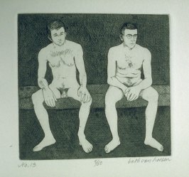 Two figures, pl. 13 from the bound portfolio, The Nude Man (Berkeley: Crown Point Press, 1965)