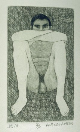 Arms over knees, pl. 19 from the bound portfolio, The Nude Man (Berkeley: Crown Point Press, 1965)