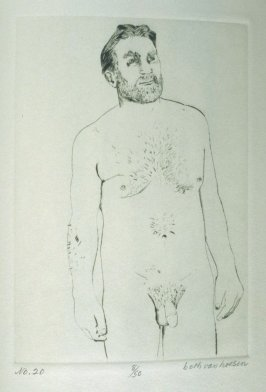 W. standing, pl. 20, from the bound portfolio, The Nude Man (Berkeley: Crown Point Press, 1965