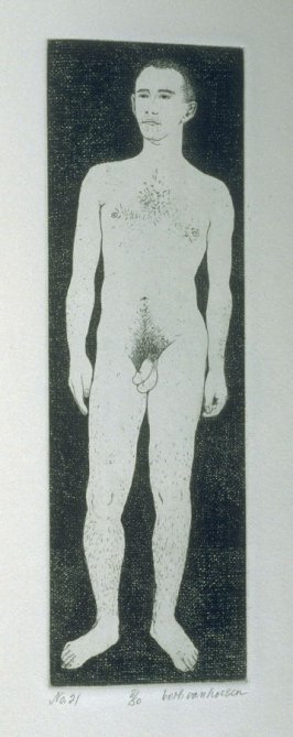 M. standing, pl. 21 from the bound portfolio, The Nude Man (Berkeley: Crown Point Press, 1965)
