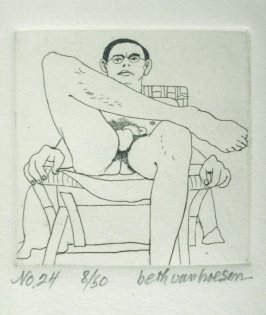 Foreshortened, pl. 24 from the bound portfolio, The Nude Man (Berkeley: Crown Point Press, 1965)