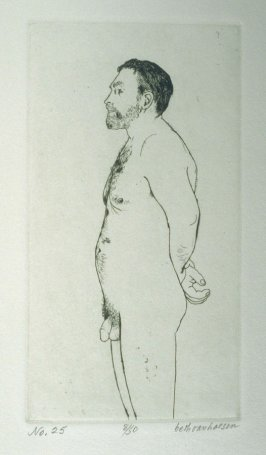 W. profile, pl. 25 from the bound portfolio, The Nude Man (Berkeley: Crown Point Press, 1965)