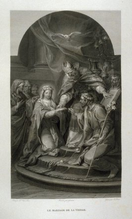Le Mariage de la Vierge ( The Marriage of the Virgin)...twenty first plate in the book... Le Musée royal (Paris: P. Didot, l'ainé, 1818), vol. 2