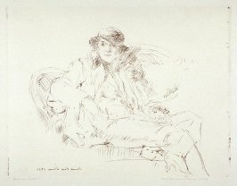 Girl on Sofa (Portrait sketch of Beatrice Judd Ryan)