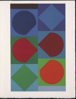 """""""Beryll"""" by Victor Vasarely, pg. 223, in the book Souvenirs et portraits d'artistes (Reminiscences and Portraits of Artists) by Fernand Mourlot (Paris: Alain c. Mazo, 1972 and in New York: Léon Amiel, 1972)."""
