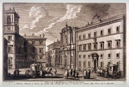 Church of St. Apollinare & Collegio Germanico, Rome, from the series Magnificenze di Roma antica e moderna (Splendors of ancient and modern Rome)