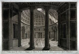 Veduta Interna del Panteon d'Agrippa (Interior view of the Pantheon), from the series Magnificenze di Roma antica e moderna (Splendors of ancient and modern Rome)