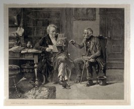 A Knotty Point, Submitting the Case to the Family Lawyer - from Harper's Weekly (November 21, 1874)