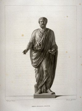 Didius Julianus, statue...seventy fourth plate in the book... Le Musée royal (Paris: P. Didot, l'ainé, 1818), vol. 2