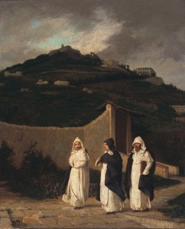 Dominicans. A Convent Garden, near Florence (Three Monks at Fiesole)