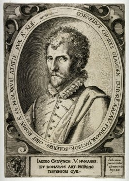 Portrait of Cornelius Cout, (after Lodovico Pozzoserato)