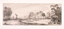Bird Trapping Scene, from series Some Pleasing Landscapes and Ruins of Ancient Monuments