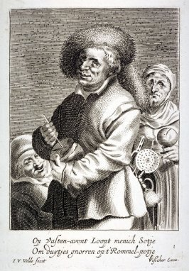 The Rumbling-Pot Player, from set of four Way-Faring Musicians