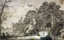 Draw-Well Among Trees, from the Sixty Landscapes