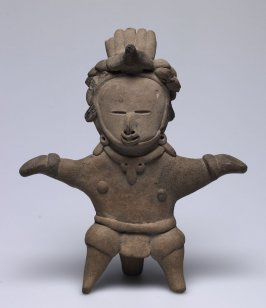 Standing Figure with Bird Headdress