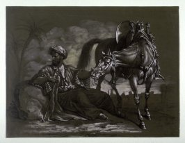 Seated Mameluck with Horse