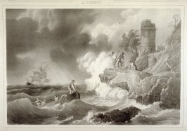La Tempête... (The Tempest)...Fifty second plate in the book...[Title in Russian and French] Imperatorskaya Ermitazhnaya Galereya … Galérie Impériale de l'Ermitage (Saint Petersburg: Gohier Desfontaines, 1847)