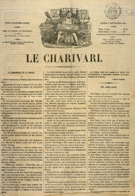 Text page from Le Charivari
