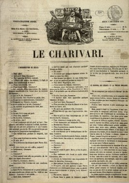 A page of text from Le Charivari