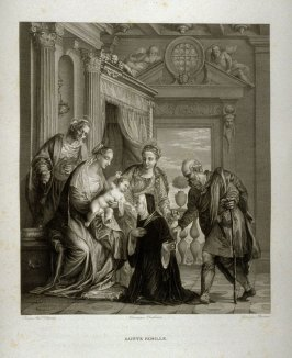 Sainte Famille ( The Holy family)... ninth plate in the book... Le Musée royal (Paris: P. Didot, l'ainé, 1818), vol. 2