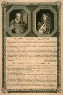 The Hon. Earl of Kingston / the Hon. Earl of Litchfield; from the series 'Loyalists'