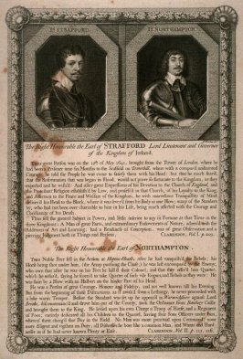 The Hon. Earl of Strafford / The Hon. Earl of Northampton; plate 1 from the series 'Loyalists'