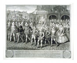 The Royal Procession of Queen Elizabeth to visit the Right Hon. Henry Carey, Lord of Hunsdon