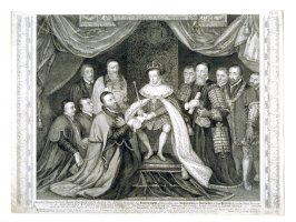Edward VI giving the charter of Brideswell Hospital to the city of London