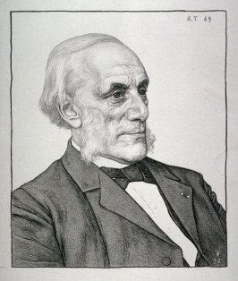 Portrait of a man at the age of 69