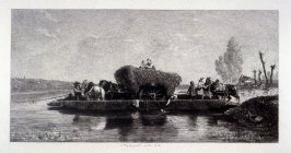 The Ferryboat (a horse Ferry on the Seine)