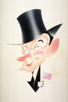 """Caricature of Mayor James """"Jimmy"""" Walker of New York - for Life Magazine"""