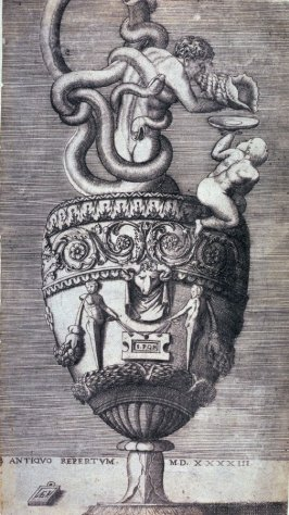 Ewer with a Man Entwined by Snakes, from a series of different vases