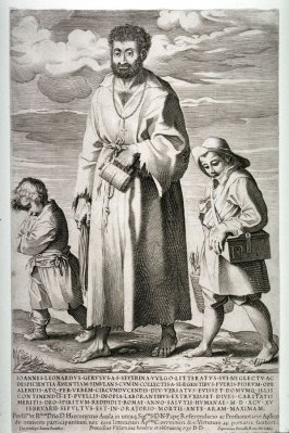 A Mendicant (Giovanni Leonardo Geruso) with two Boys