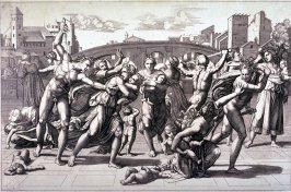 The Massacre of the Innocents, after the engraving by Marcantonio Raimondi after a design by Raphael
