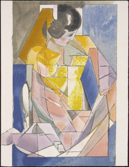 """Portrait d'une jeune fille"" by Jacques Villon, pg. 169, in the book Souvenirs et portraits d'artistes (Reminiscences and Portraits of Artists) by Fernand Mourlot (Paris: Alain c. Mazo, 1972 and in New York: Léon Amiel, 1972)."