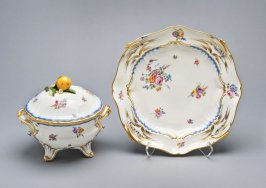 Tureen and stand, (Pot a Oille)