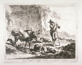 [Shepherd with his sheep] (Plate 1)