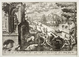 [Landscape with Proserpina being taken away] (Plate 6)