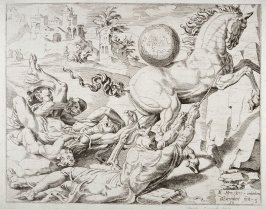 [Landscape with Dadalus in foreground] (Plate 7)