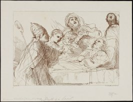 Death of a Saint, after Guercino