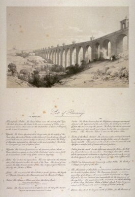 List of Drawings from Scenery of Portugal and Spain (Plate II)