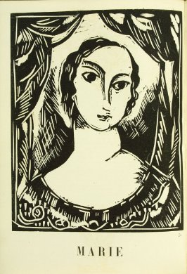 """Marie,"" in the book Communications: Poèmes et bois gravés by Vlaminck (Paris: Galerie Simon, 1921)"