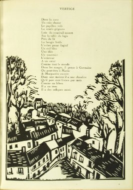 "Illustration accompanying the poem ""Vertige,"" in the book Communications: Poèmes et bois gravés by Vlaminck (Paris: Galerie Simon, 1921)"