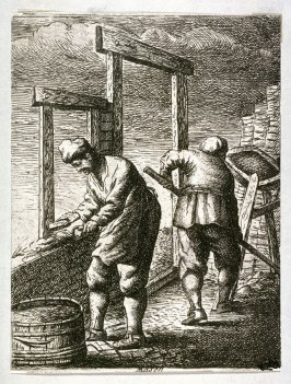 Bricklayers from the series Crafts and Trades (reverse copy)