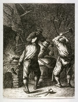 Blacksmiths from the series Crafts and Trades (reverse copy)