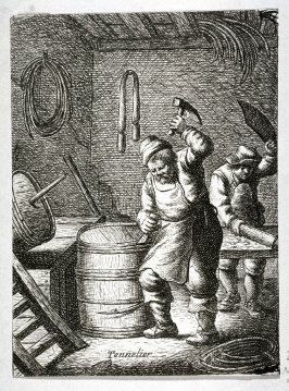 Coopers from the series Crafts and Trades (reverse copy)
